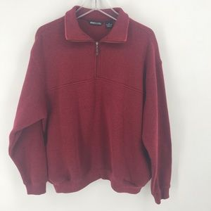 Burgundy PGA Tour Half-zip pullover Men's M
